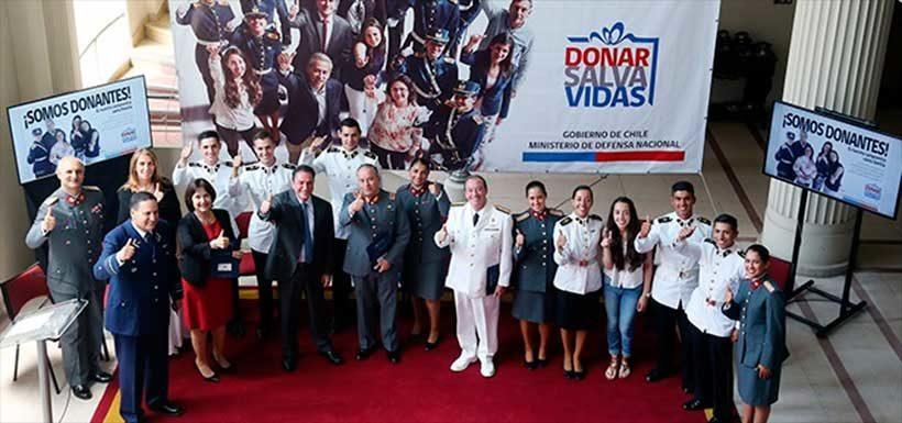 Ministerio de Defensa lanza campaña para promover la donación de órganos en las Fuerzas Armadas de Chile