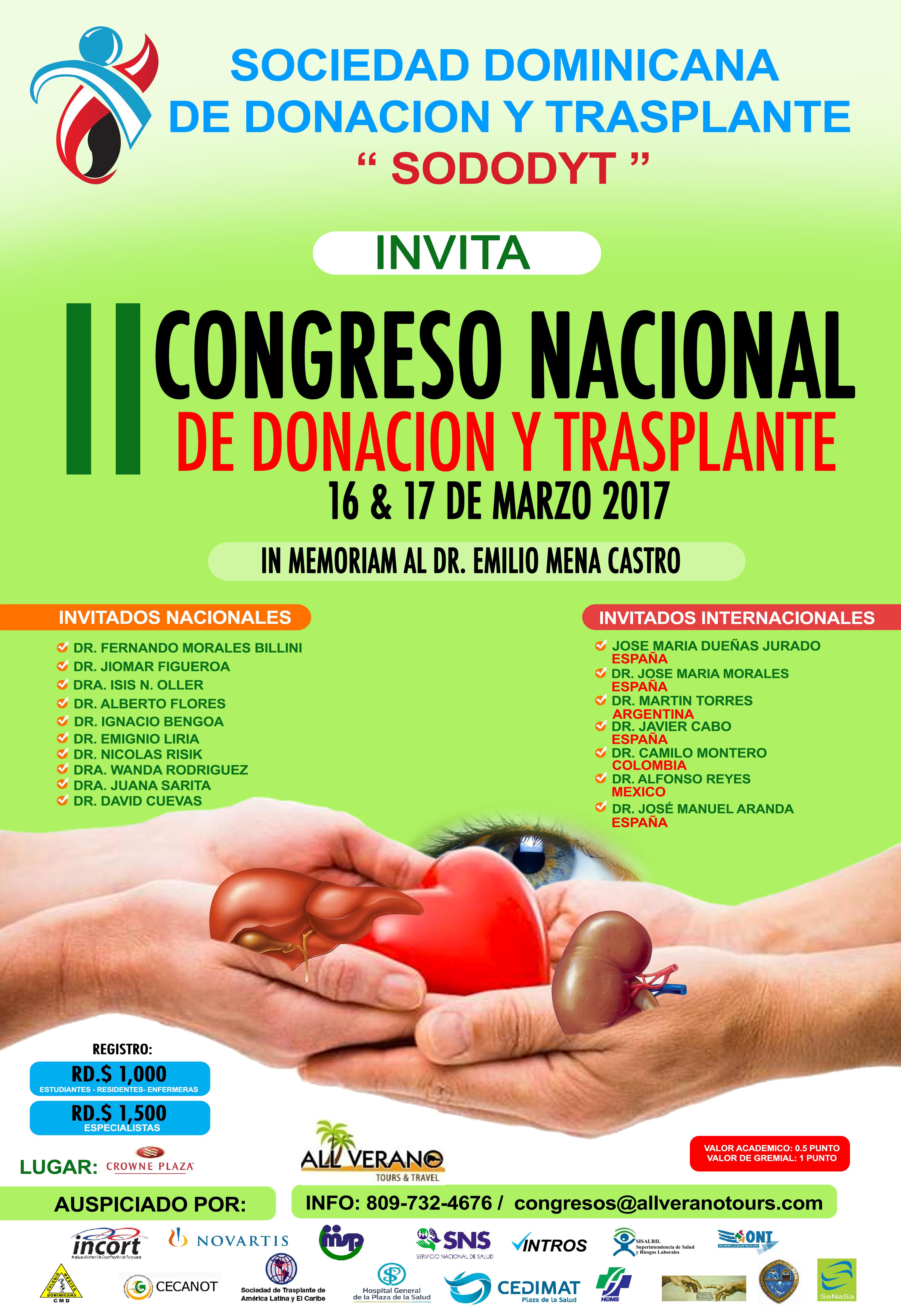 II Congreso Nacional de Donación y Trasplante