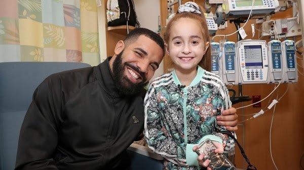 El rapero Drake sorprendió a una niña que espera un trasplante de corazón y que soñaba con conocerlo