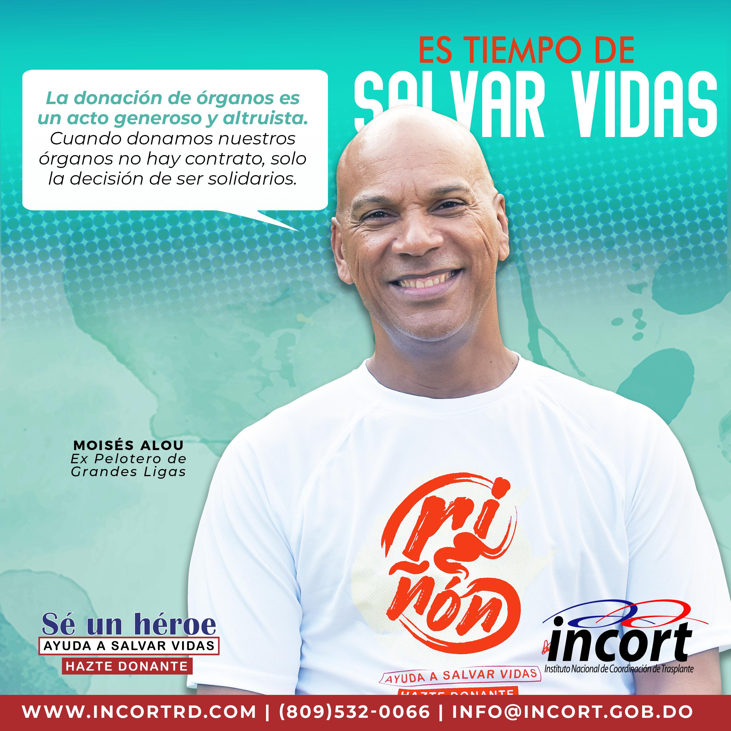 """Moisés Alou es parte de nuestra campaña """"Hazte Donante"""". ¿Y tú, qué esperas para unirte?"""