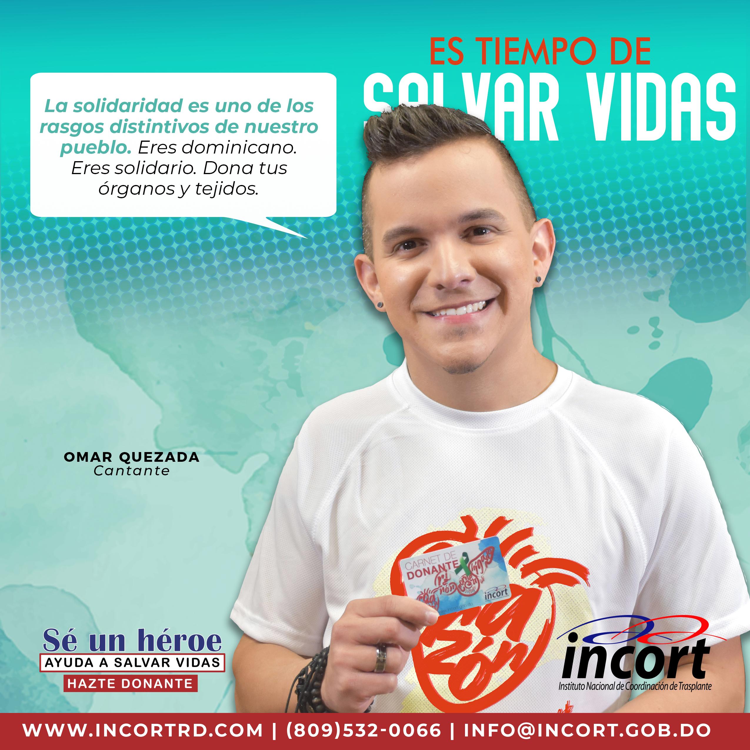 """Omar Quezada como parte de la campaña """"Hazte donante""""."""