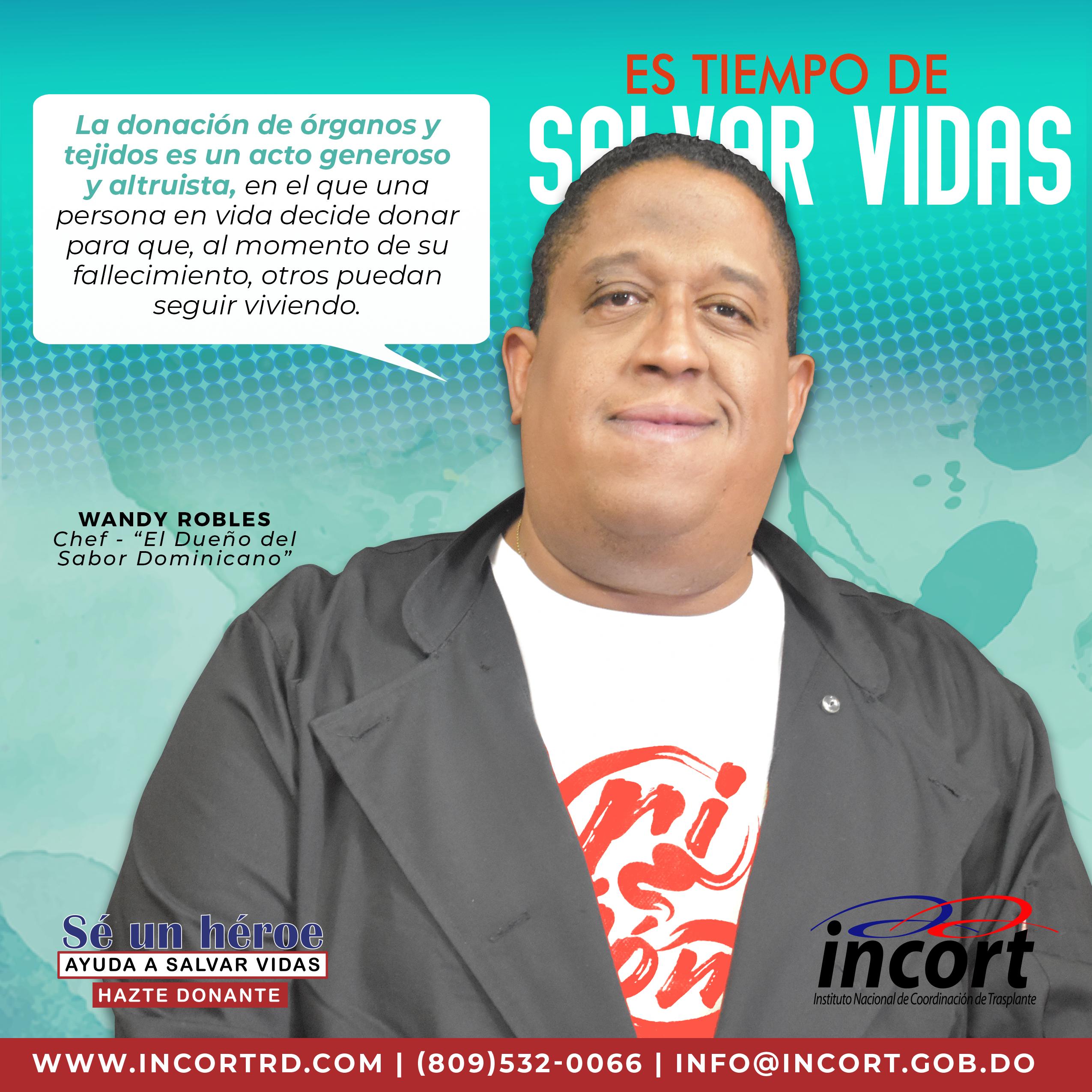 """Wandy Robles como parte de la campaña """"Hazte donante"""""""