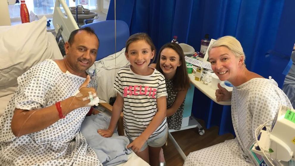 Una mujer dona un riñón a su expareja para que sus hijas no se queden sin padre