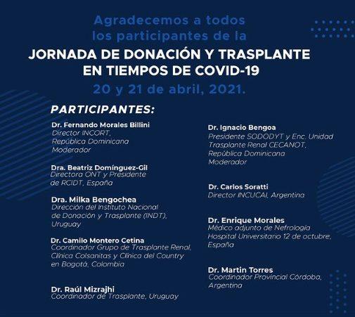 Jornada de Donación y Trasplante en tiempos de COVID-19