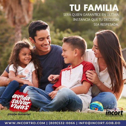 Tu familia será quien garantice la donación de tus órganos