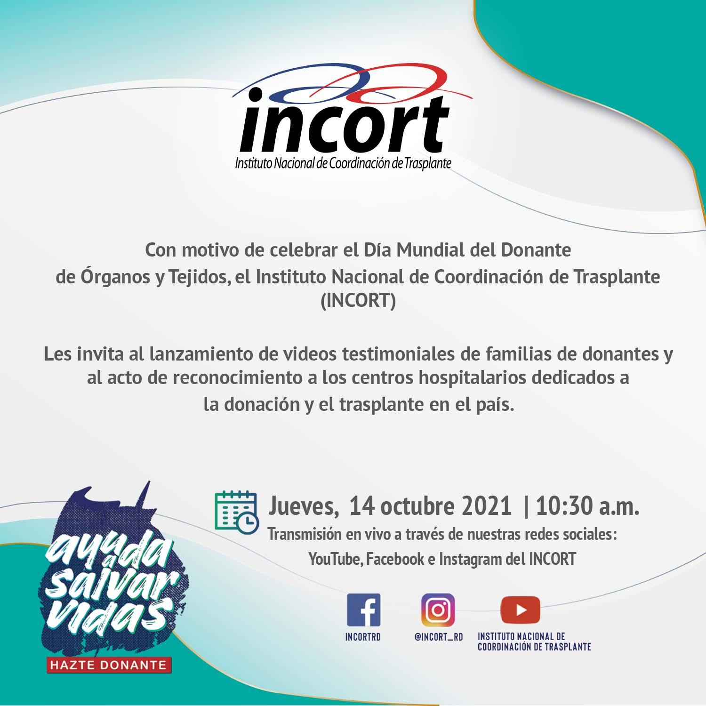 INCORT Invita: Día Mundial del Donante de Órganos y Tejidos